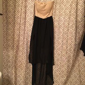 Semi-formal high-low strapless dress - small